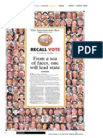 Sacramento Bee recall voter guide cover