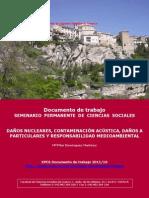 DAÑOS NUCLEARES, CONTAMINACIÓN ACÚSTICA, DAÑOS A PARTICULARES RESPONSABILIDAD AMBIENTAL CUENCA ESPAÑA