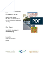 Sensitivity Analysis for Noise MappingThe Department for Environment