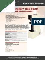 catálogo Durometro Brinell Bncada hbe-3000a - 2010 - 1p