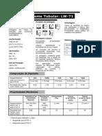 Catálogo Arame Tubular LW-71 - LINCOLN - 2010 - 2p