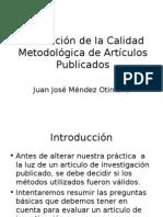 Evaluación de Calidad Metodológica de Artículos Publicados Final