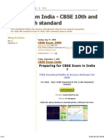 CBSE Exam India - CBSE 10th and CBSE 12th