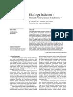 Paper Ekologi Industri(Prospek Penerapannya Di Indonesia)