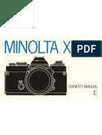 Minolta XD-11 owner's manal