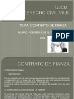 Contrato de Fianza Ujcm