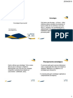 Estrategia Empresarial Aula 1 e 2