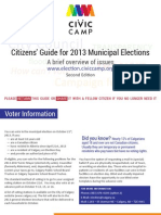 Citizen's Guide for 2013 Municipal Elections