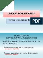 AULA- Língua Portuguesa- Termos essencias da oração