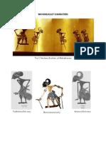 Wayang Kulit Character Arts and Crafts of Thailand, India, Philippines, Cambodia