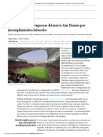 Investigadas tres empresas del nuevo San Mamés por incumplimientos laborales _ País Vasco _ EL PAÍS