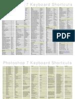Adobe Photoshop 7 Keyboard Shortcuts