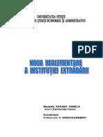 Noua Reglementare a Institutiei Extradarii