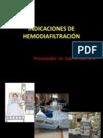 INDICACIONES DE HEMODIAFILTRACIÓN