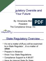 Mortgage Compliance State Regulatory Oversite