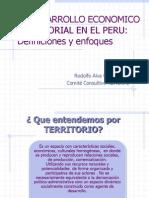 El Desarrollo Economico Territorial en El Peru Definiciones y Enfoques