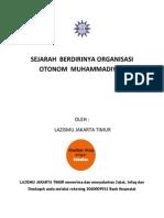 Sejarah Berdirinya Organisasi Otonom Muhammadiyah