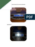 Determinar en la balanza la masa de las muestras húmedas