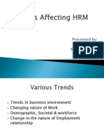 Trends Affecting HRM