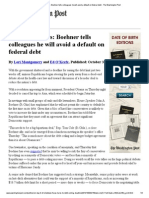 GOP Lawmakers_ Avoid a Default on Federal Debt - The Washington Post