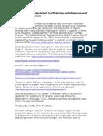 Carbon Footprint of Organic Fertilizer