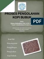Proses Produksi Kopi Bubuk