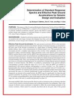 Determination of Standard Response Spectra