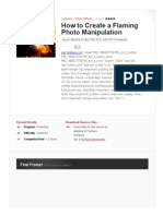 How to Create a Flaming Photo Manipulation _ Psdtuts+