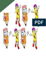 Pensil Cartoon Decoration