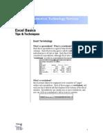 Excel Basics Manual