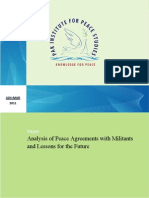 Analysis of Peace Agreements with Militants by Sohail Habib Tajik