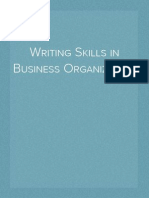 Writing Skills in Business Organization