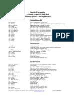 2013-14 Academic Calendar