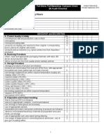 Audit Checklist 2012 Revised 090412 Cjb