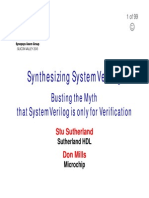 2013 SNUG SV Synthesizable SystemVerilog Presentation