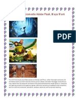 3D Facility Macromedia Adobe Flash, Maya Work
