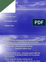 Cost of Quality & Quality Gurus