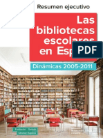 Las bibliotecas escolares en España - resumen