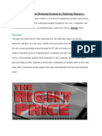 Importance of Pricing in Marketing