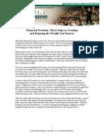 Financial Freedom Workbook