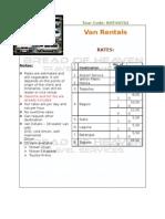 BHT V0701 Van Rental