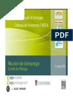 etude du pole d'échanges château vincennes-rerA, réunion démarrage comité de pilotage 12 07 2010