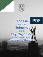 Proceso Para La Reforma Para La Ley Organica de La UAQ