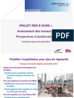 Presentation Du Projet RER B Nord Plus Par La SNCF Et RFF Au Comite de Ligne RER B Du 6 Juillet 2012