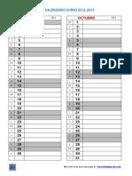 Calendario Anual 2013 2014