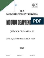 Modulo de Aprendizaje de Quimica Organica III 2013-II