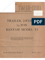 Tm 10-1281 TRAILER 2-WHEEL 0,25-TON BANTAM MDL T3