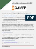 Installing PHP and MySQL Locally Using XAMPP