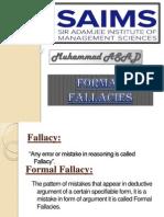 Formal fallacies in Logic