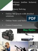 Ray Optics, Part 2 (Physics) for JEE Main